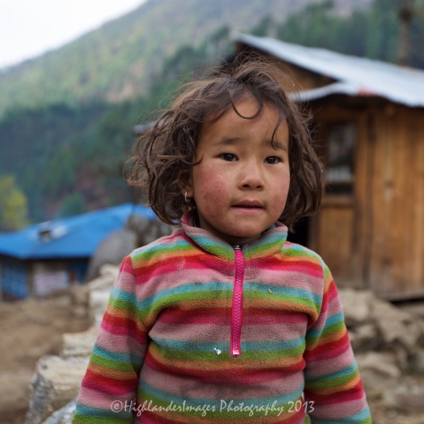 Small girl at Phakding as we get ready to start Day 2 trek to Monjo.
