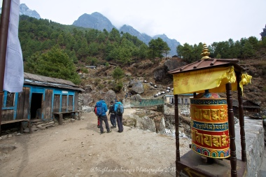 Another prayer wheel at River View Lodge between Phakding and Monjo.