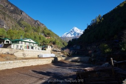 Starting the trek on Day 3 from Monjo towards Namche Bazaar