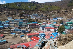 A view over Namche Bazaar.