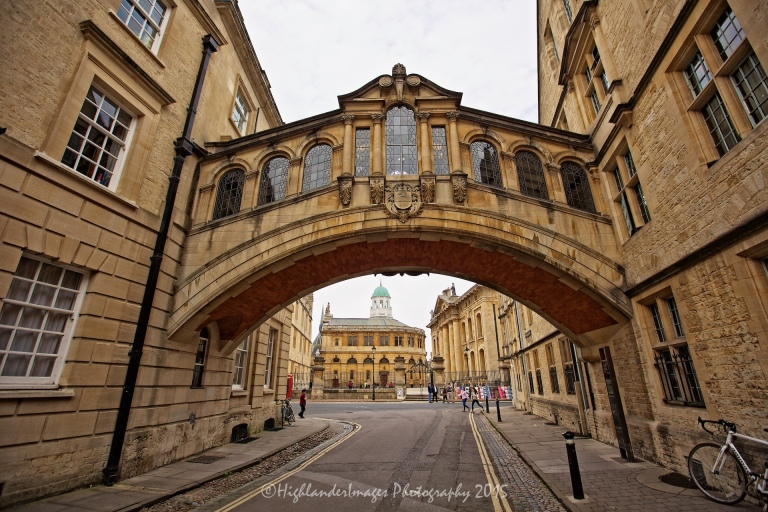 Bridge of Sighs, Hertford College, Oxford University, Oxford, UK.