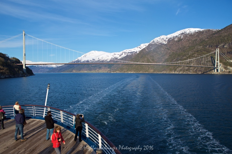 Sailing to Eidfjord, Norway on Marco Polo