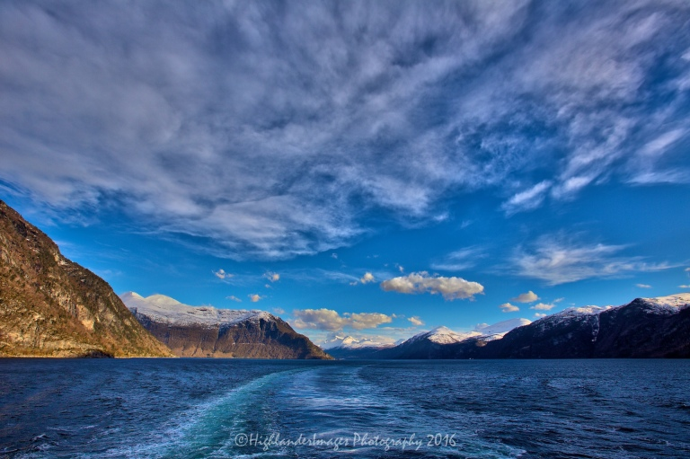 Sailing from Geiranger to Bergen, Norway aboard Marco Polo
